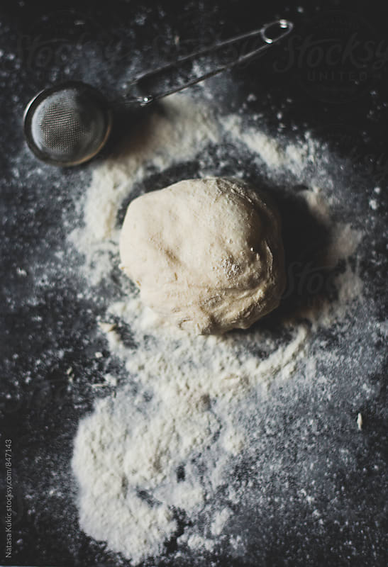 Bread dough kneading by Natasa Kukic for Stocksy United