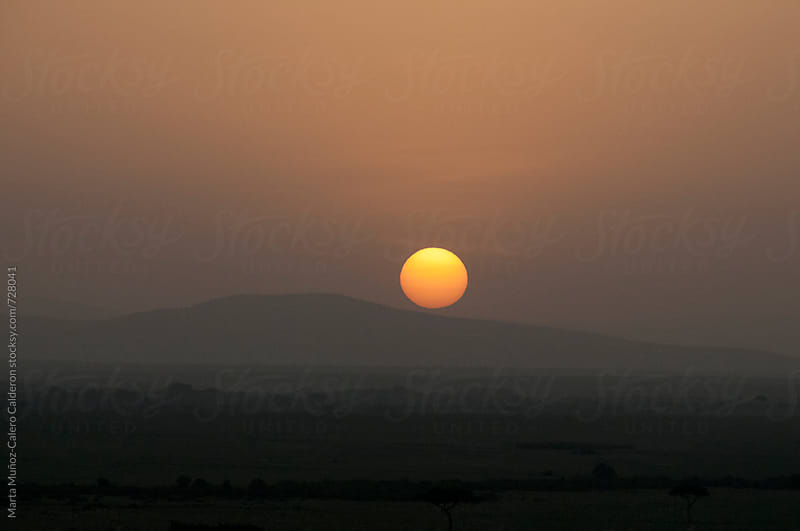 Sunrise in Kenia view from an air balloon by Marta Muñoz-Calero Calderon for Stocksy United