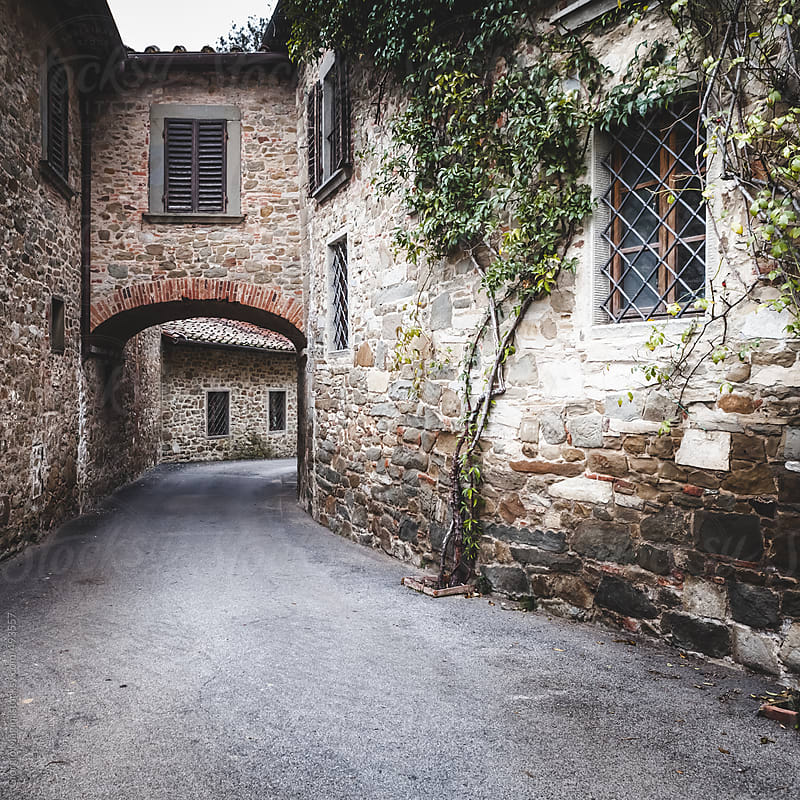 Alley with Arch in Old Italian Village by Giorgio Magini for Stocksy United