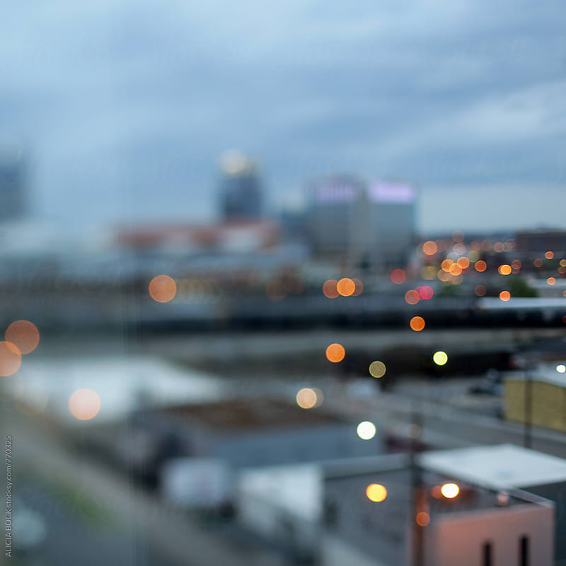 Abstract City Lights Across Looking Nashville Tennessee by ALICIA BOCK for Stocksy United