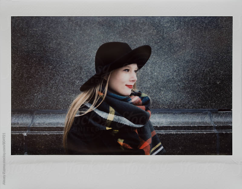 appy blond young woman with hat. by Alexey Kuzma for Stocksy United