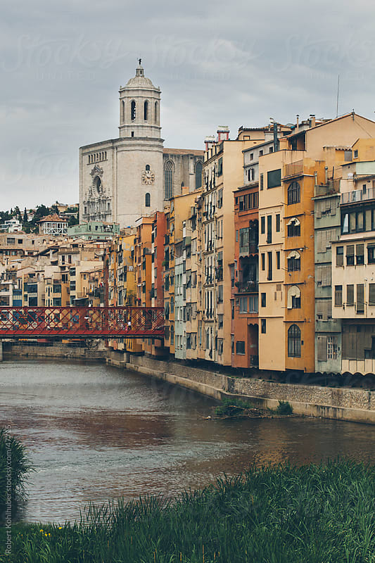 View of citiy Gerona in spain by Robert Kohlhuber for Stocksy United