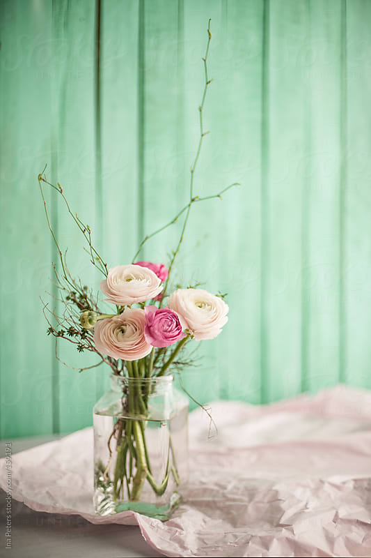 Spring Flowers in a Vase, Ranunculus by Ina Peters for Stocksy United