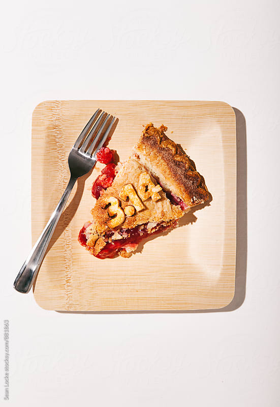 Pi: Slice Of 3.14 Cherry Pie by Sean Locke for Stocksy United