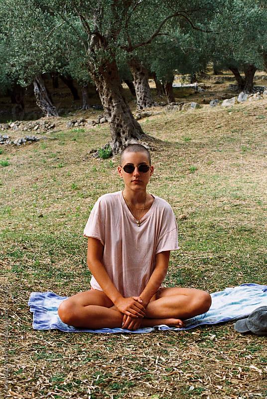 A girl in olives by Aleksandra Martinovic for Stocksy United