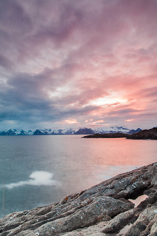 Clouds over Henningsvaer by Marilar Irastorza for Stocksy United
