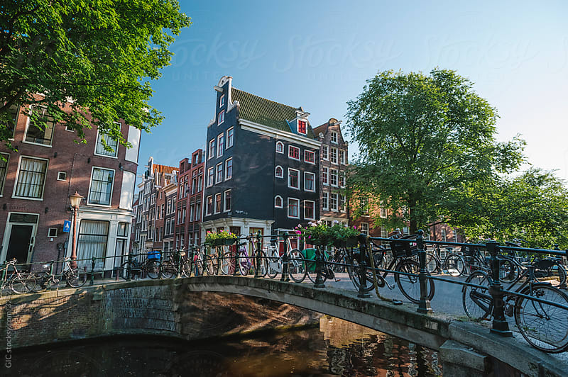 Bridge on the canal and bicycles, Amsterdam by WAVE for Stocksy United