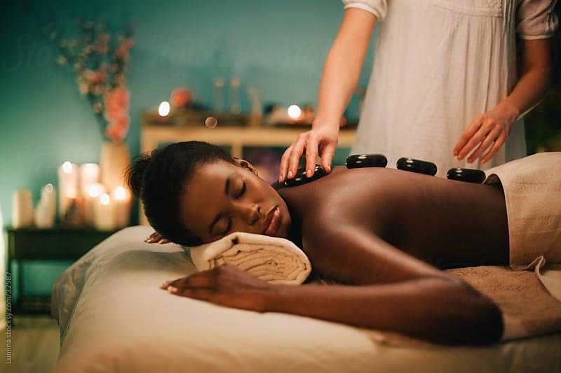 Hot Stone Massage by Lumina for Stocksy United