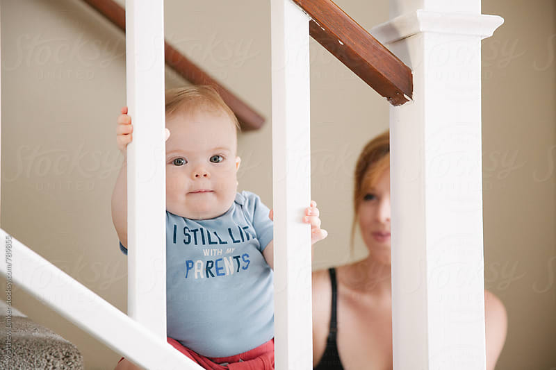 Cute Baby Spending The day with hisMom by Matthew Linker for Stocksy United