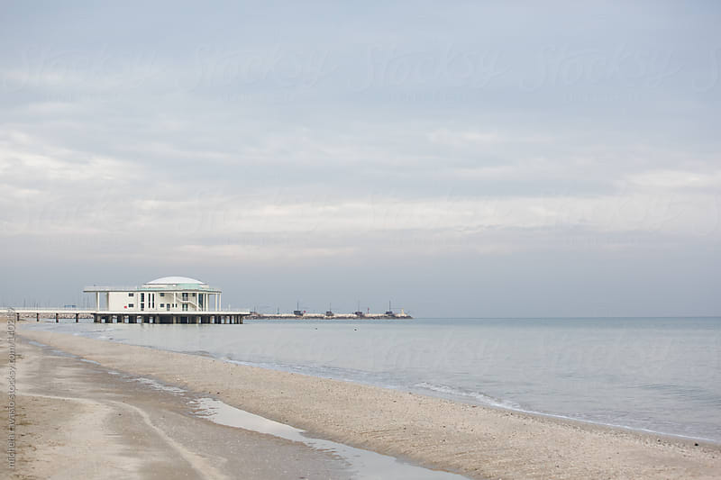 Building along the sea in winter by michela ravasio for Stocksy United
