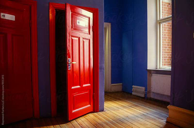 Behind the Red Door by Raymond Forbes LLC for Stocksy United