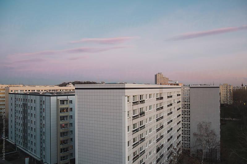 Winter sunset above Friedrichshain by Irina Efremova for Stocksy United