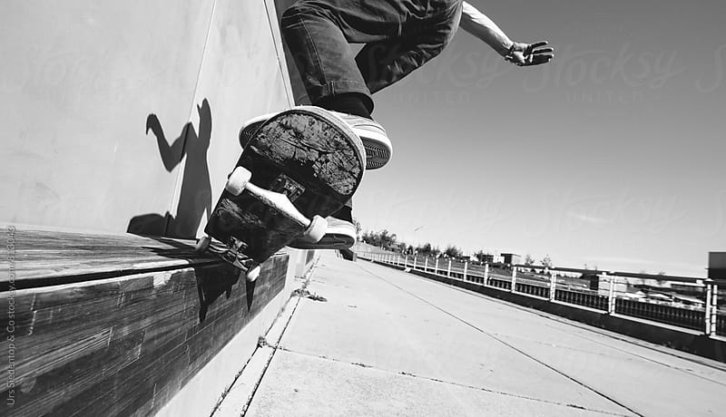 Grinding with skateboard indaface by Urs Siedentop & Co for Stocksy United