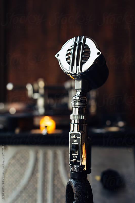Vintage Microphone by Gabriel (Gabi) Bucataru for Stocksy United