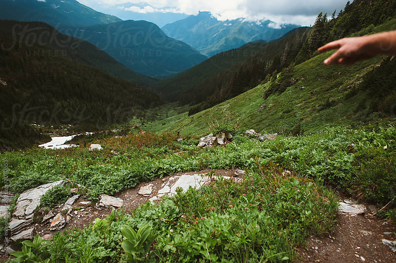 Mountain Trail in the Cascade Mountains of Washington by michelle edmonds for Stocksy United