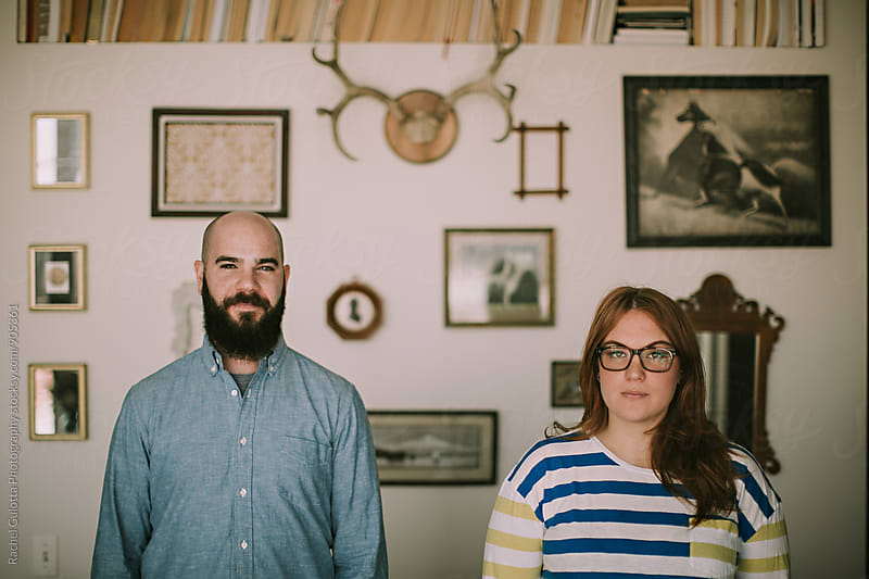 A Young Couple in Their Home by Rachel Gulotta Photography for Stocksy United