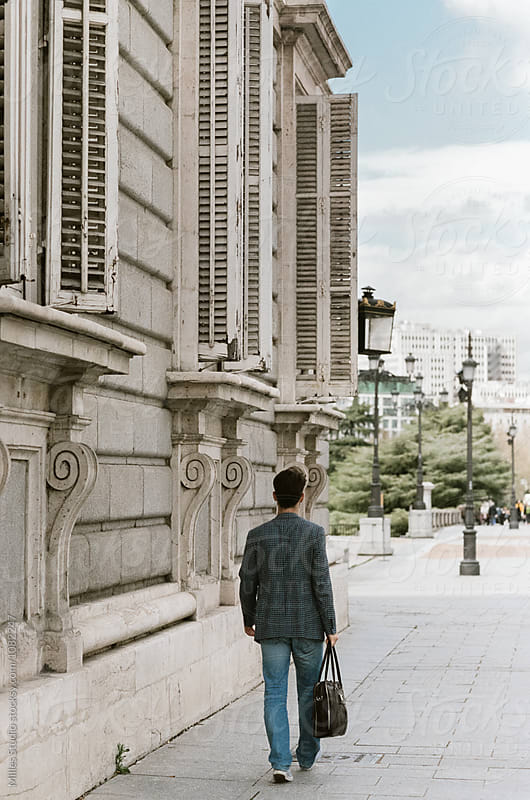 Man in the city by Milles Studio for Stocksy United