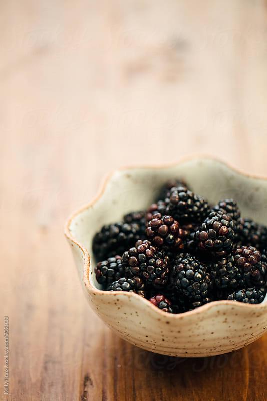 bowl of blackberries by Kelly Knox for Stocksy United