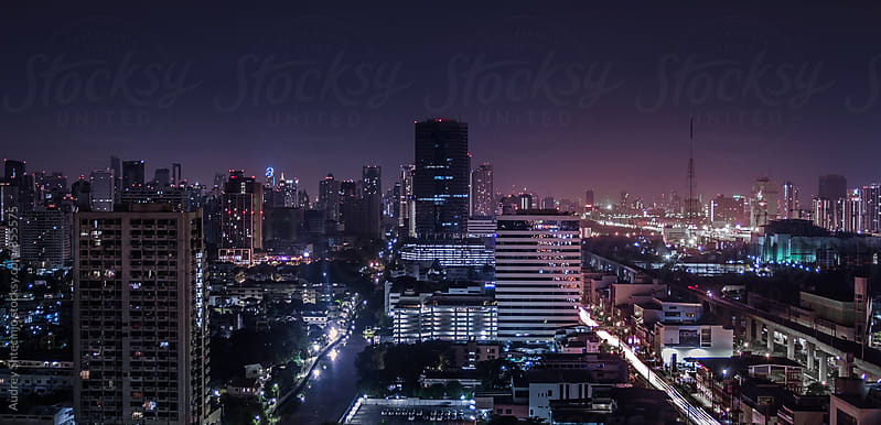 Panoramic View of City/Bangkok Thailand by Marko Milanovic for Stocksy United