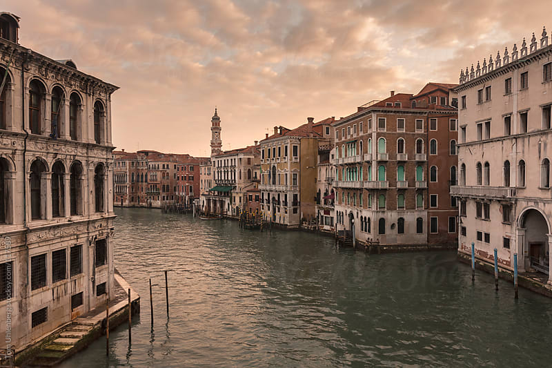 The Grand Canal in Venice at Sunrise by Tom Uhlenberg for Stocksy United
