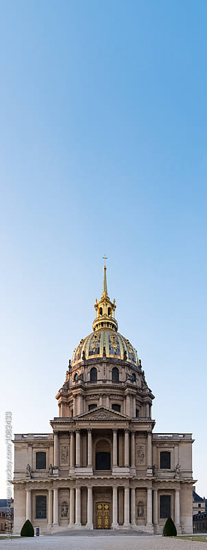 The Dome des Invalides Which houses Napoleon's Tomb by Jeff Wasserman for Stocksy United