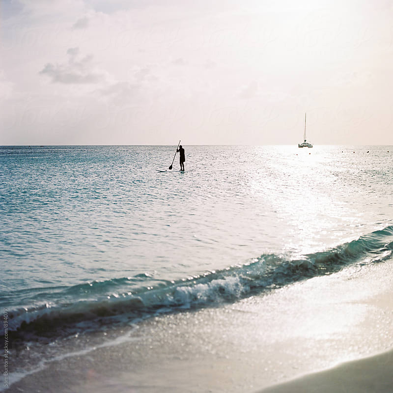 Paddle boarder by Sam Burton for Stocksy United