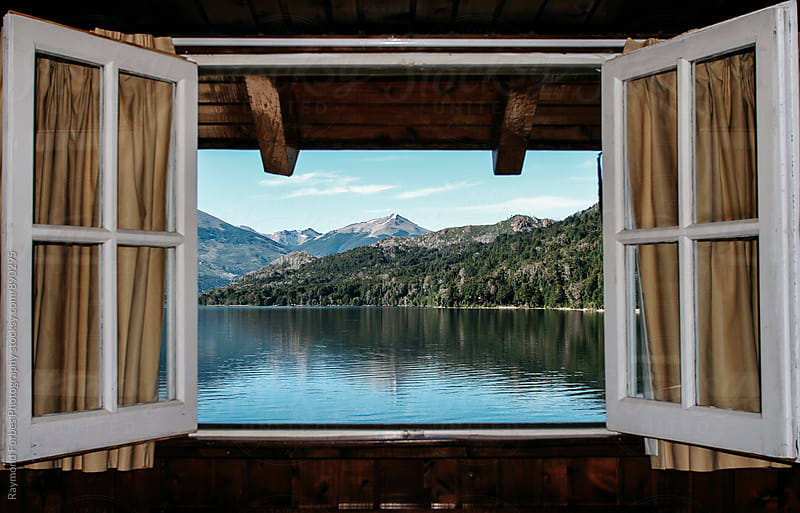 View From Hotel Room  Bariloche, Argentina by Raymond Forbes LLC for Stocksy United