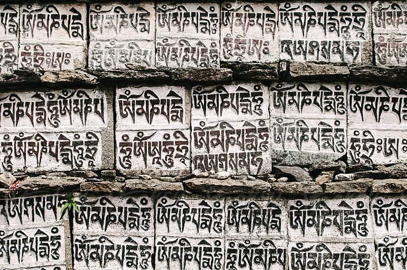 Pray stones, Lukla Valley, Everest Region, Sagarmatha National Park, Nepal. by Thomas Pickard Photography Ltd. for Stocksy United
