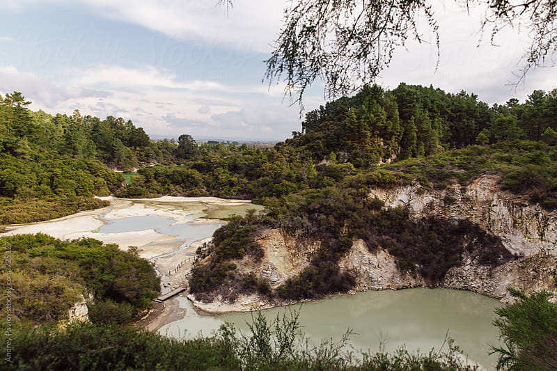 View of Waiotapu park by Andrey Pavlov for Stocksy United