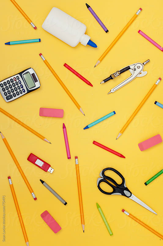 Supplies: Variety of School Supplies by Sean Locke for Stocksy United