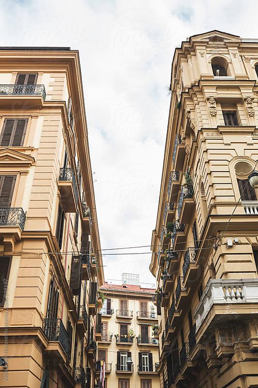 Two typical italian buildings in Naples by Aleksandar Novoselski for Stocksy United