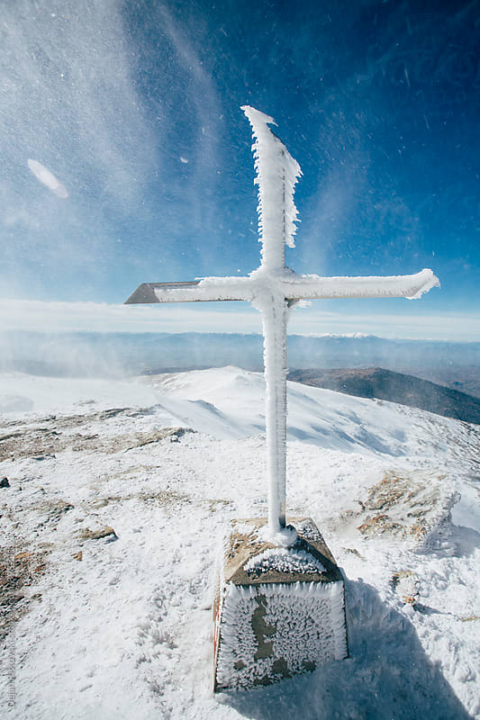 Frozen cross. by Dejan Ristovski for Stocksy United