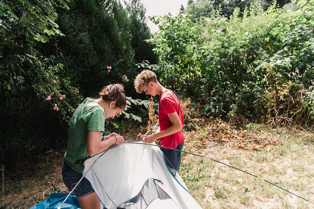 Camping Teen Daughter