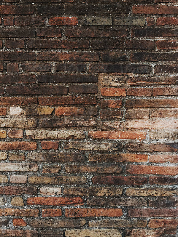 Old brick wall background. by BONNINSTUDIO for Stocksy United
