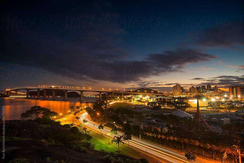 Brazilian Cityscape - Vitória - Bridge - Lateral View. by Yuri Barichivich for Stocksy United