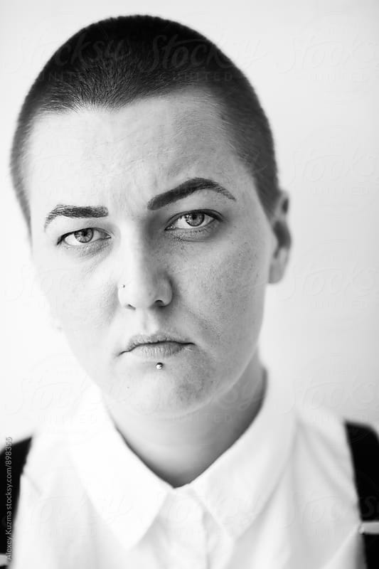 portrait of real lesbian woman by Vesna for Stocksy United
