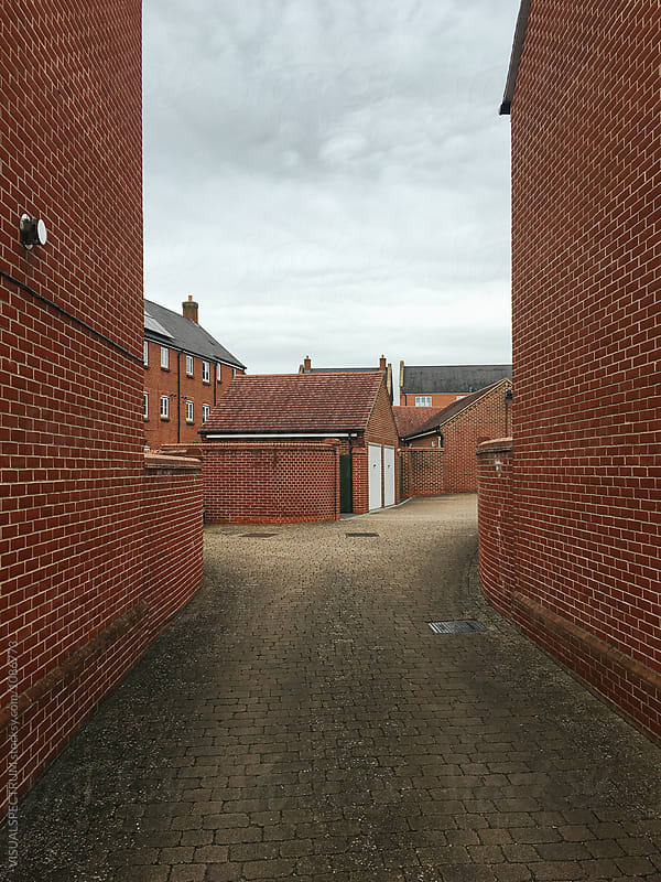 Typical Exposed Brick Neighborhood in United Kingdom by Julien L. Balmer for Stocksy United