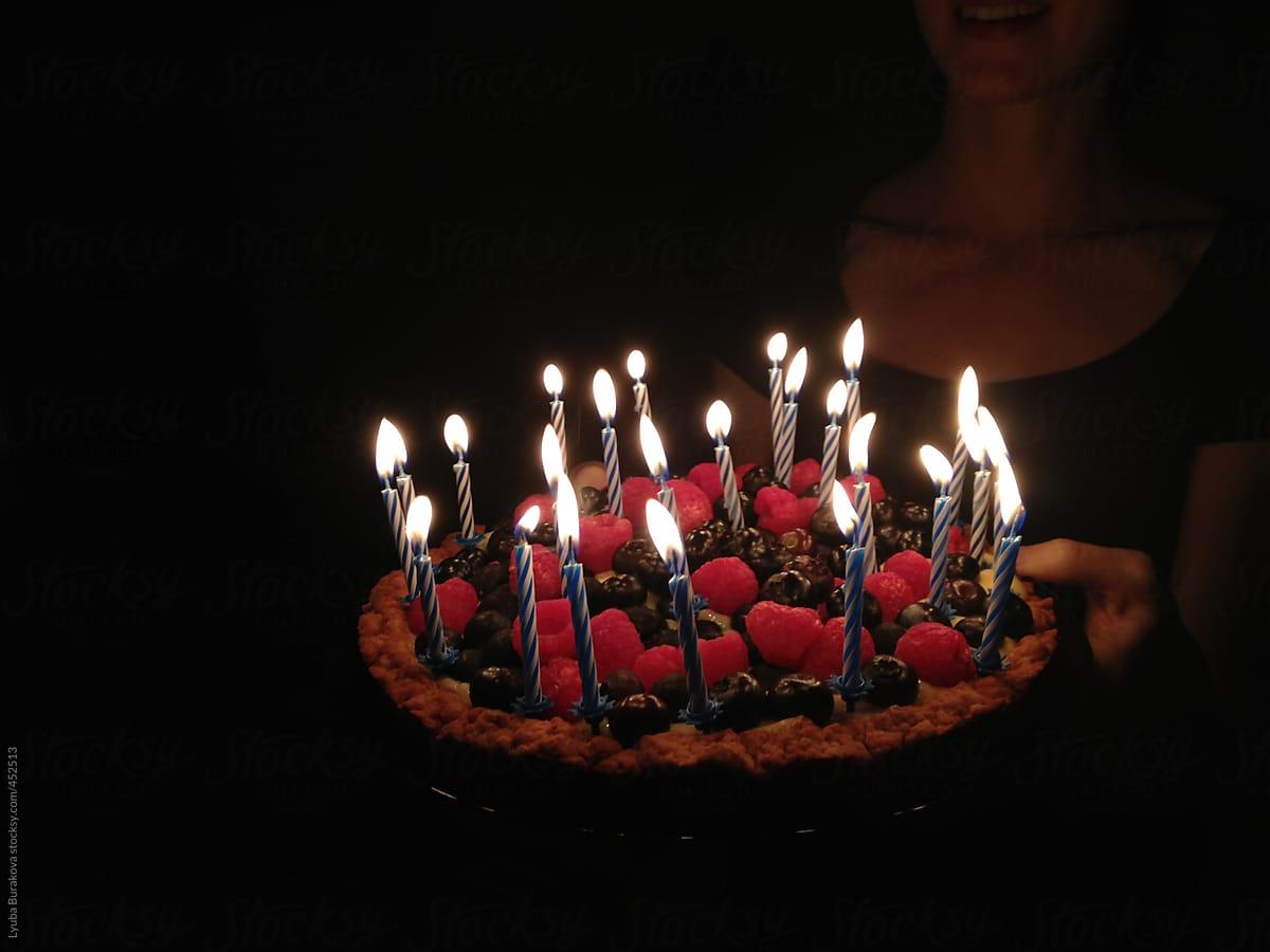 Birthday Cake With 24 Candles By Lyuba Burakova For Stocksy United