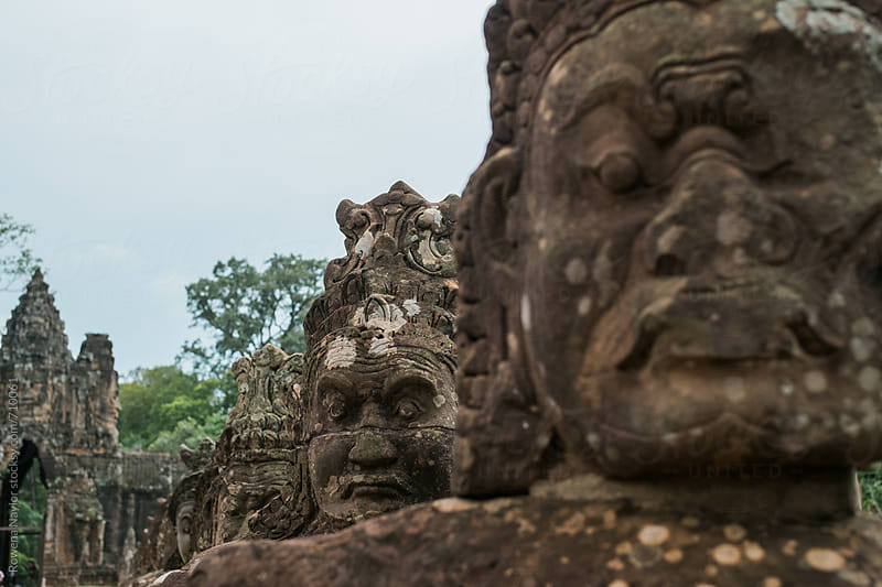 Entrance to Bayon Temple, Siem Reap, Cambodia by Rowena Naylor for Stocksy United