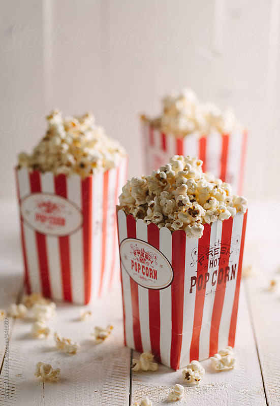 Buckets full of popcorn by Davide Illini for Stocksy United