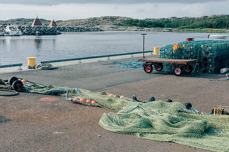 Fishing port by Daniel Wirgård for Stocksy United