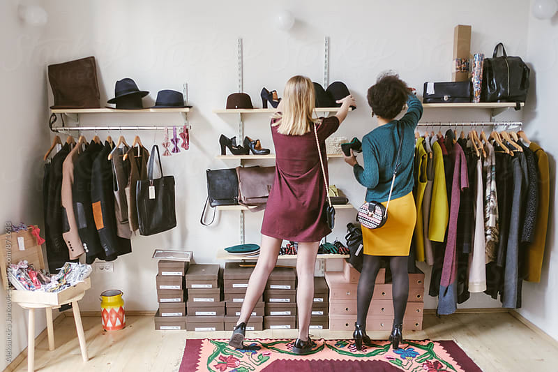 Women Shopping at the Clothing Store by Aleksandra Jankovic for Stocksy United
