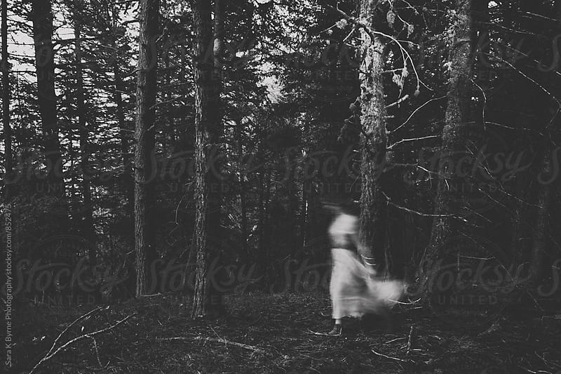 Ghost in the woods by Sara K Byrne Photography for Stocksy United