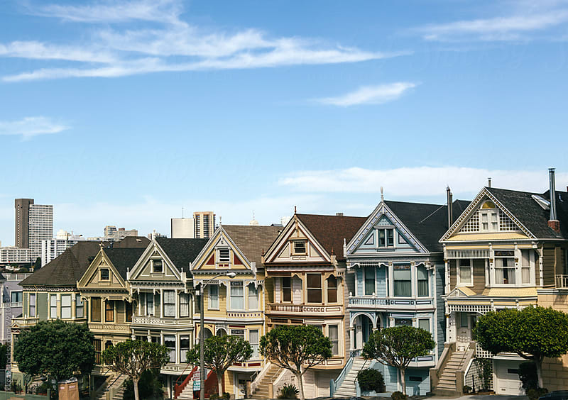 Painted Ladies of Alamo Square Park San Francisco by kkgas for Stocksy United