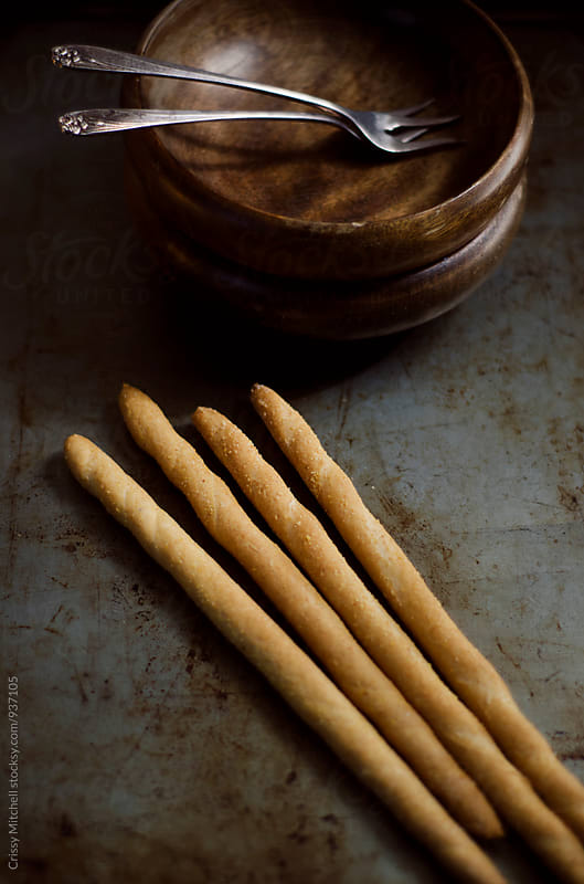 bread sticks by Crissy Mitchell for Stocksy United