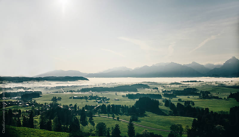 Landscape of Allgäu, Travel Destination in Bavaria, Germany, Europe  by Claudia Lommel for Stocksy United
