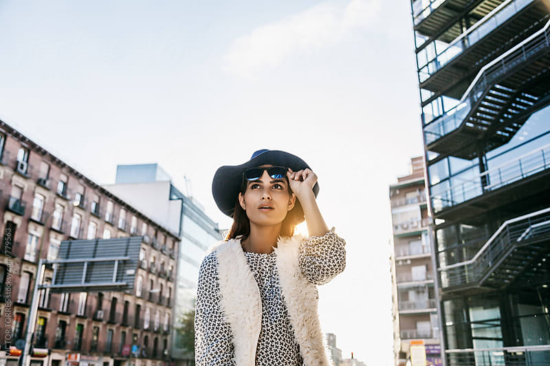 Cute Trendy Woman in an Urban Setting by Victor Torres for Stocksy United