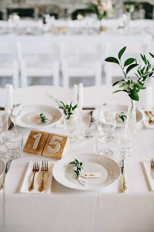 Wedding Table Setting by Sara K Byrne Photography for Stocksy United