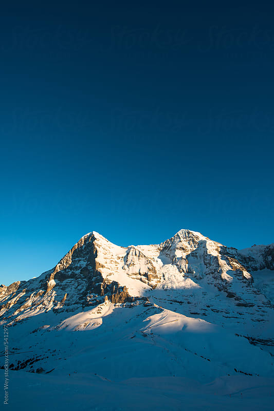 Panoramic view from Lauberhorn  by Peter Wey for Stocksy United