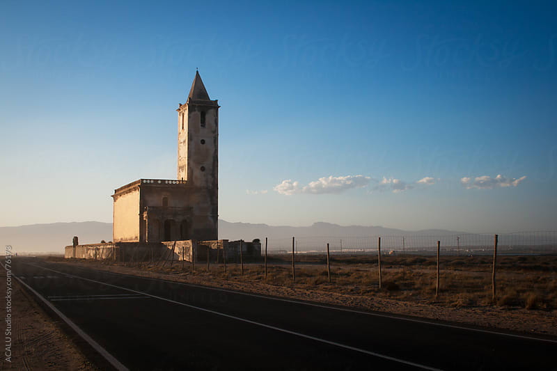 Abandoned church in Cabo de Gata, Almeria by ACALU Studio for Stocksy United